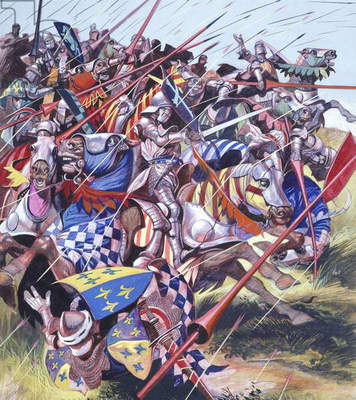 Agincourt - The Impossible Victory 25 October 1415 (gouache on paper)