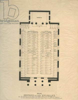 Plan, Church of the Epiphany, c.1850 (litho)