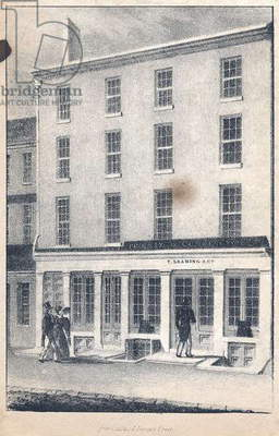 F. Leaming & Co. hardware, nail, steel, hollow-ware & looking glass store, No. 215 Market Street, printed by Childs & Inman, c.1831 (litho)