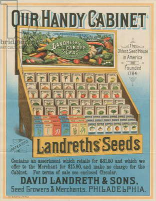 David Landreth & Sons, seed growers & merchants, Philadelphia, printed by William H. Butler, c.1895 (chromolitho)