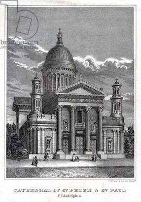 Cathedral of St. Peter & St. Paul Philadelphia, P.S. Duval & Son, c.1859 (litho)