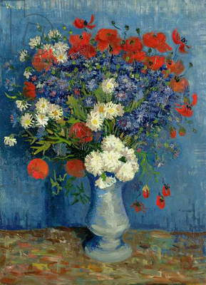 Still Life: Vase with Cornflowers and Poppies, 1887 (oil on canvas)