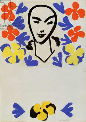 The Sculpture of Henri Matisse, poster design (collage)