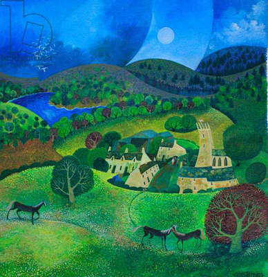 Devonshire Village, 2008 (acrylic ink and gouche on paper)