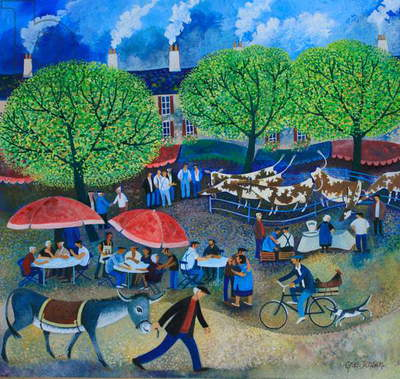 Another Market Day, 2008 (acrylic ink and gouche on paper)