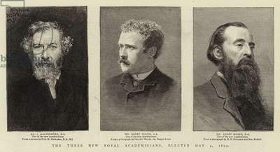 The Three New Royal Academicians, elected 4 May 1893 (engraving)