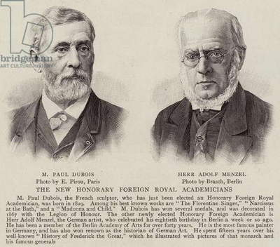 The New Honorary Foreign Royal Academicians (engraving)