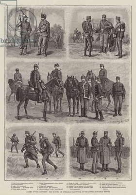 Armies of the Continent, the Honved, or Hungarian Landwehr, of the Austro-Hungarian Empire (engraving)