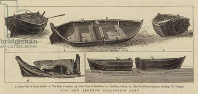 The New Berthon Collapsing Boat (engraving)