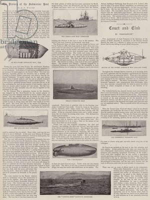 The History of the Submarine Boat (b/w photo)