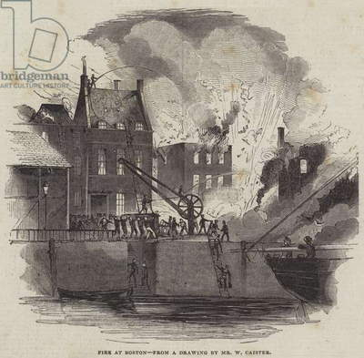 Fire at Boston (engraving)