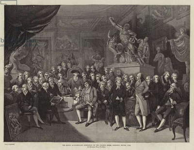 The Royal Academicians assembled in the Council Room, Somerset House, 1793 (engraving)