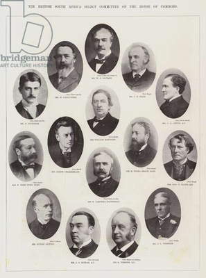 The British South Africa Select Committee of the House of Commons (b/w photo)
