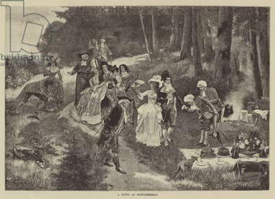 A Picnic at Fontainebleau (engraving)