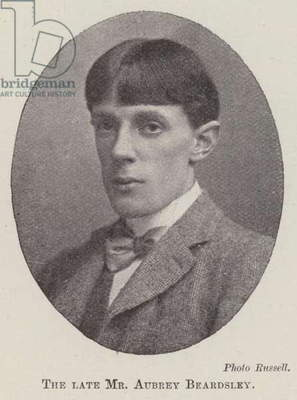 The late Mr Aubrey Beardsley (b/w photo)