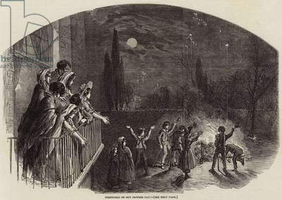 Fireworks on Guy Fawkes Day (engraving)
