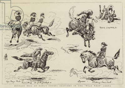 Buffalo Bill at Earl's Court, Sketches in the