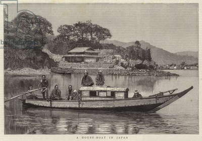 A House-Boat in Japan (engraving)