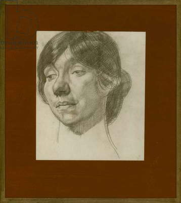 Portrait of an Italian model, late 1920s (pencil on paper)