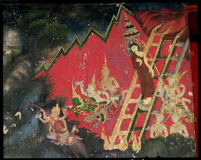 Buddha Descending from Heaven (wall painting)