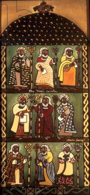 Nine Saints, 1997 (acrylic on canvas)