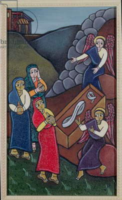 The Holy Women at the Sepulchre (acrylic on canvas)