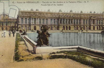 Garden front of the Palace of Versailles (colour photo)