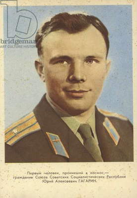 Yuri Gagarin, Soviet cosmonaut (coloured photo)