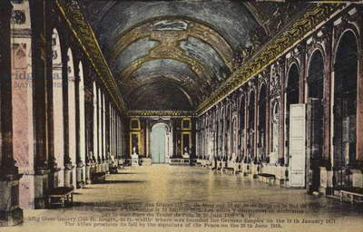 The Hall of Mirrors, Palace of Versailles (colour photo)