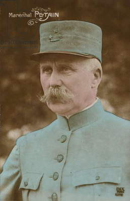 Marechal Petain (coloured photo)