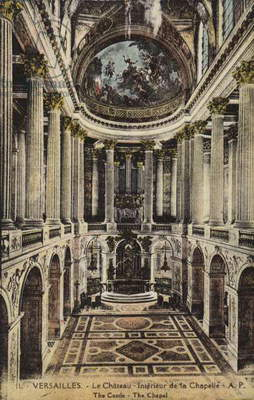 Chapel of the Palace of Versailles (colour photo)