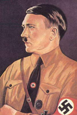 Adolf Hitler (colour litho)