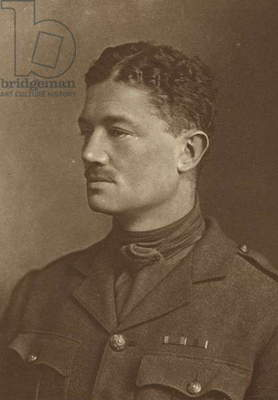 Julian Grenfell, English soldier and poet (b/w photo)