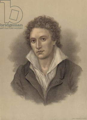 Percy Bysshe Shelley (colour litho)