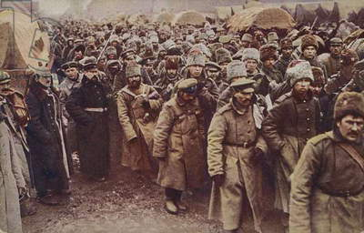 Evacuation of Russian prisoners, World War I, 1914-1915 (photo)