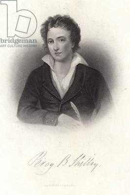 Portrait of Percy Bysshe Shelley (engraving)