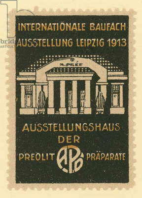 International Building Trade Exhibition, Leipzig, Germany, 1913 (colour litho)