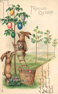 Easter card (colour litho)