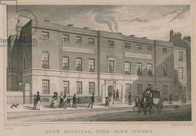 Lock Hospital, Hyde Park Corner, London (engraving)