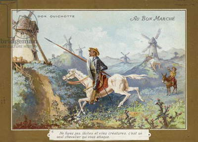 Don Quixote on horseback (chromolitho)