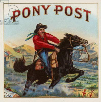 Pony Post - Cigar Label (chromolitho)