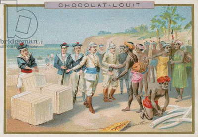 Negotiating a trade (chromolitho)