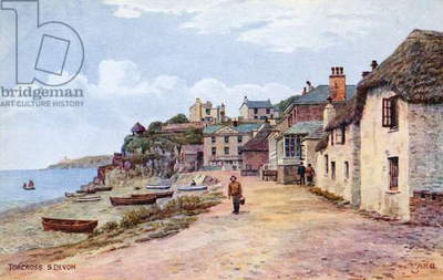 Torcross, S Devon (colour litho)