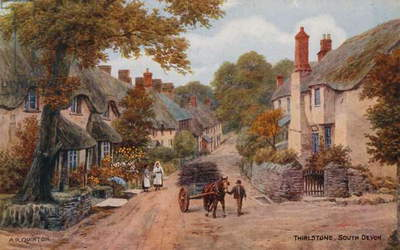 Thirlstone, South Devon (colour litho)