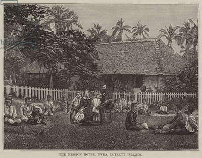 The Mission House, Uvea, Loyalty Islands (engraving)