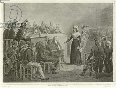Marie Antoinette at the Revolutionary Tribunal (engraving)