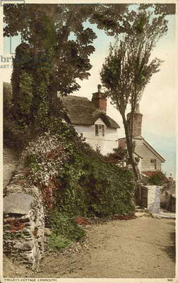 Percy Bysshe Shelley's Cottage, Lynmouth, Devon (colour photo)