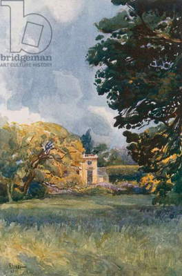 Garden of the Petit Trianon, Versailles (colour litho)