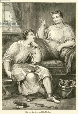 Marcus Aurelius and his Mother (engraving)