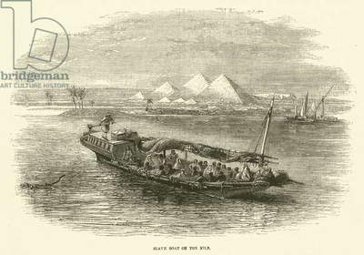 Slave boat on the Nile (engraving)
